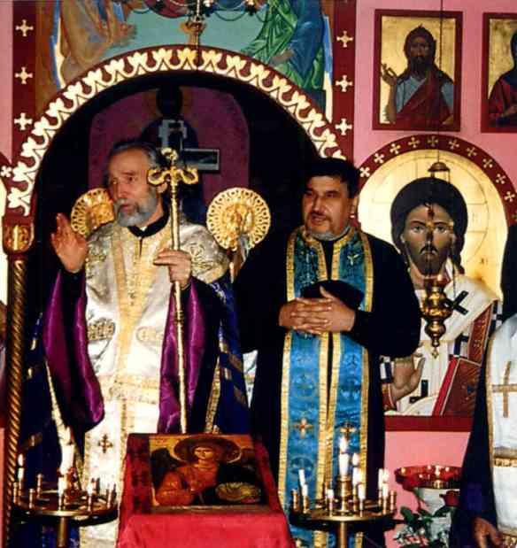 Патріарх Володимира у Франції (1994) з архієпископа ВІГІЛІЙ, митрополита Парижі Patriarch Volodymyr in France (1994) with His Eminence Archbishop Vigilij, Metropolitan of Paris